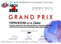 Grand Prix at the exhibition For Arch Prague 2003